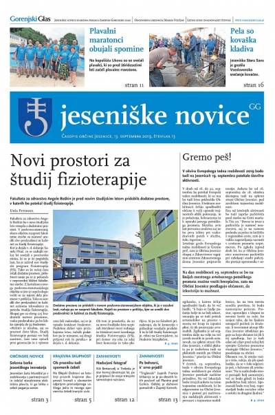 Jeseniške novice, 13. september 2019-13