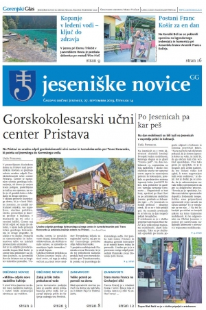 Jeseniške novice, 14. september 2019-14